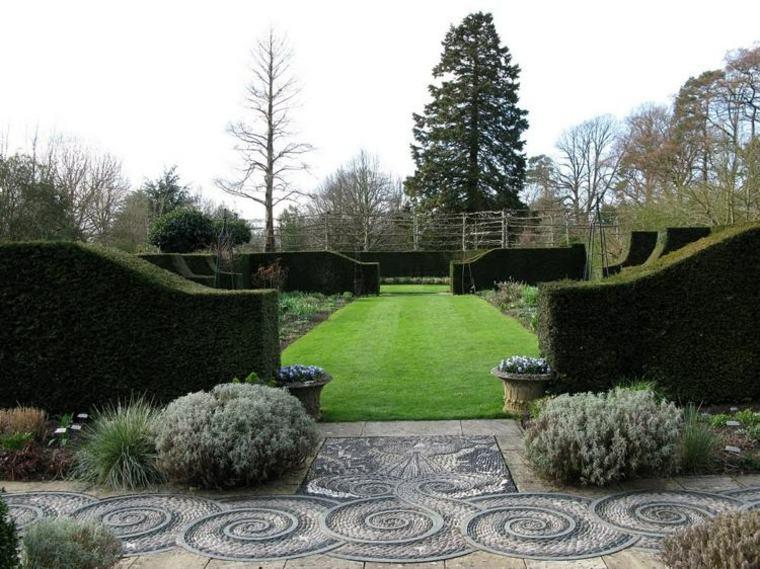 bonito diseno entrada jardin suelo