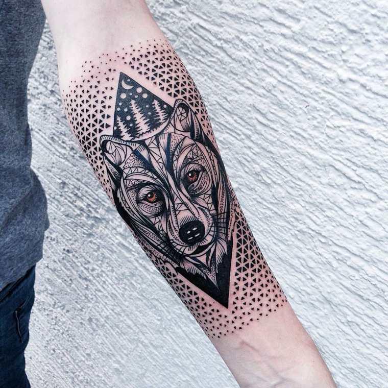 Formas Geometricas Geniales En Los Tatuajes De Jessica Svartvit
