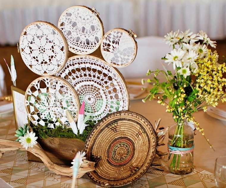 bonitos adornos mesa estilo boho