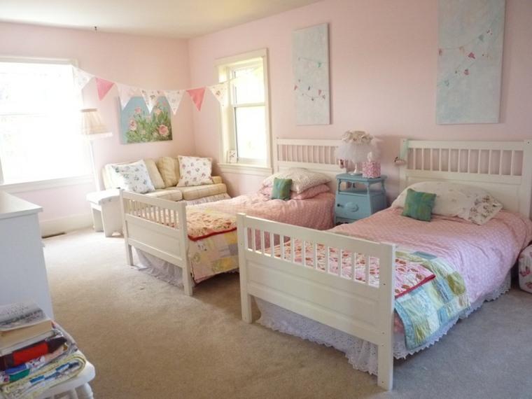 Decoracion shabby chic para dormitoios infantiles   24 ideas