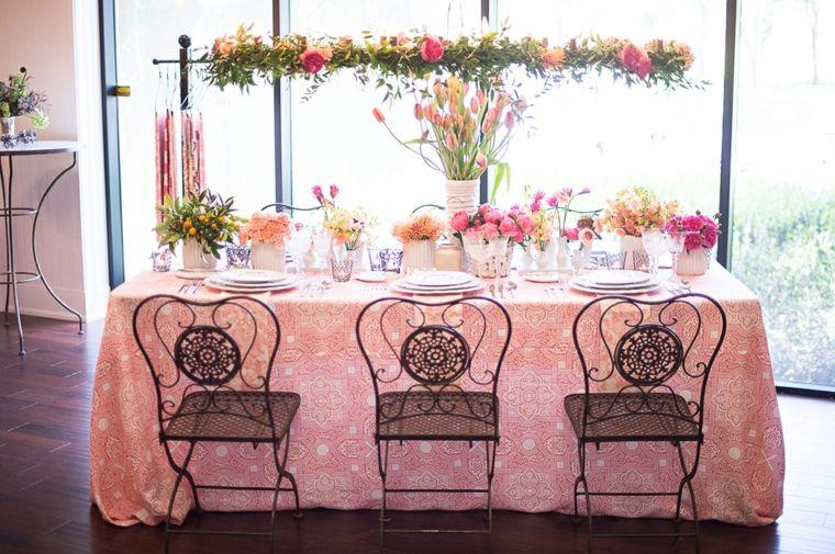 boda mesa recepcion sillas acero negro ideas
