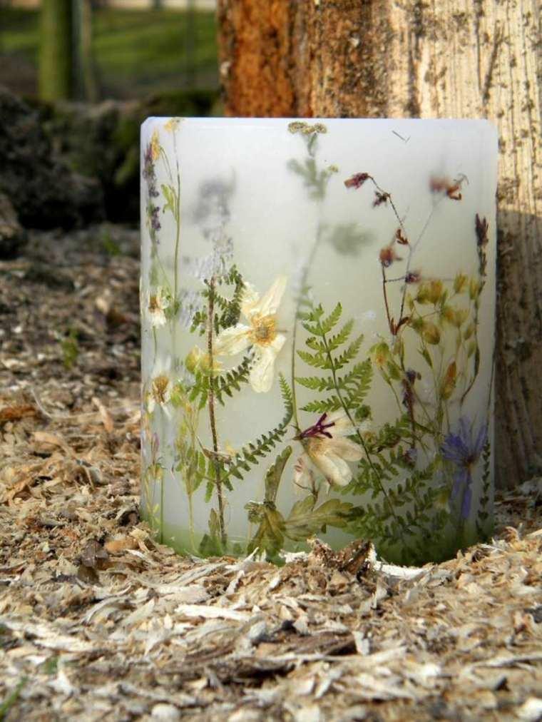 Flores secas ideas asombrosas para decorar velas - Sommer dekoration basteln ...