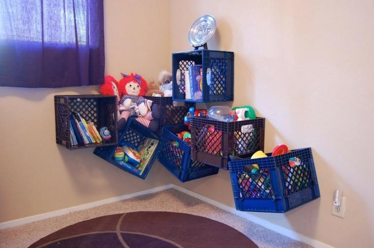 cajas frutas estantes juguetes