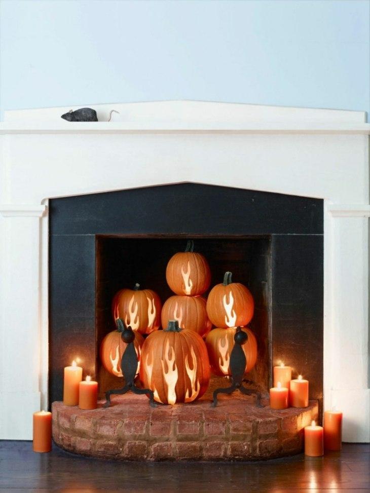 calabazas soluciones chimeneas paredes blanco