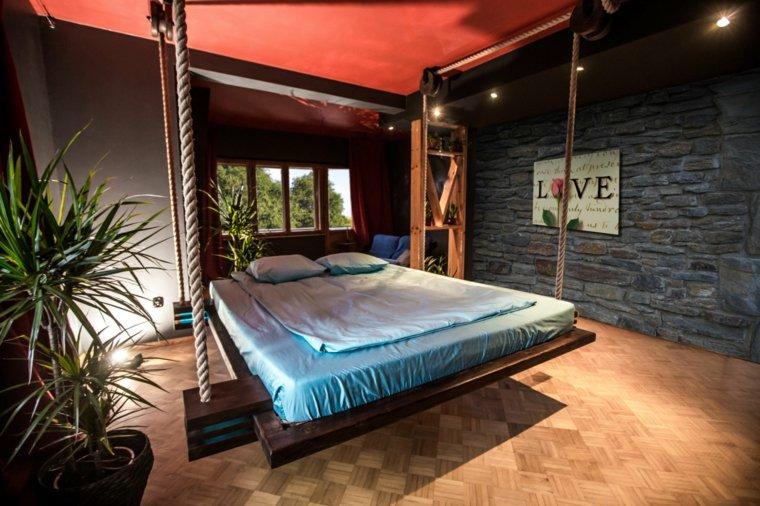 diseño cama colgante estilo moderno