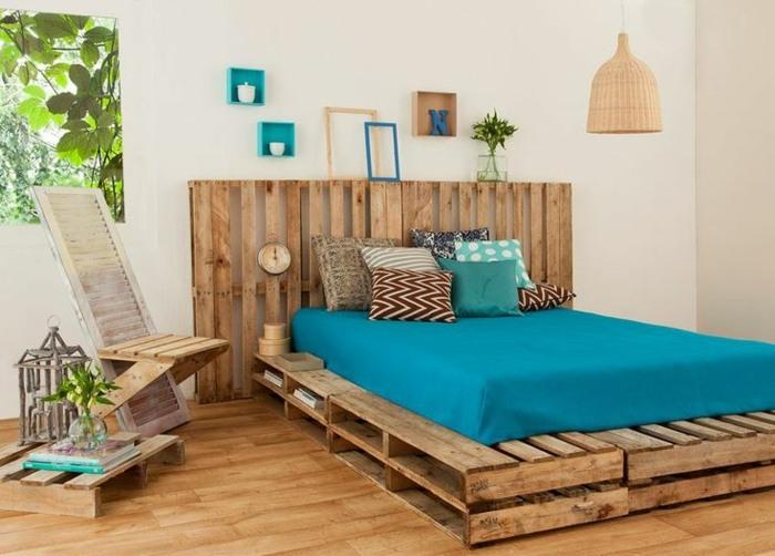 Camas con palets 24 modelos incre bles y creativos for Base de cama hecha con tarimas