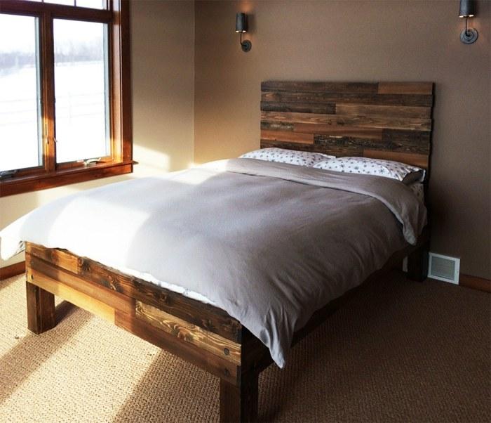 camas con palets simples estilos calido