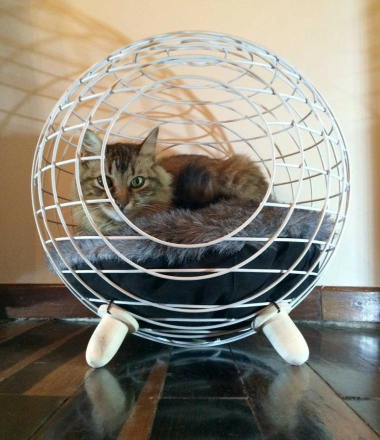 camas de gatos rejas