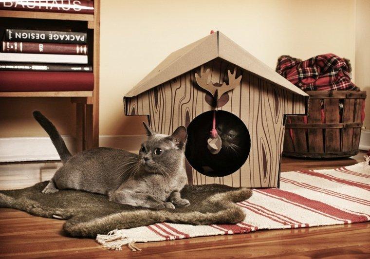 camas de mascotas casa madera