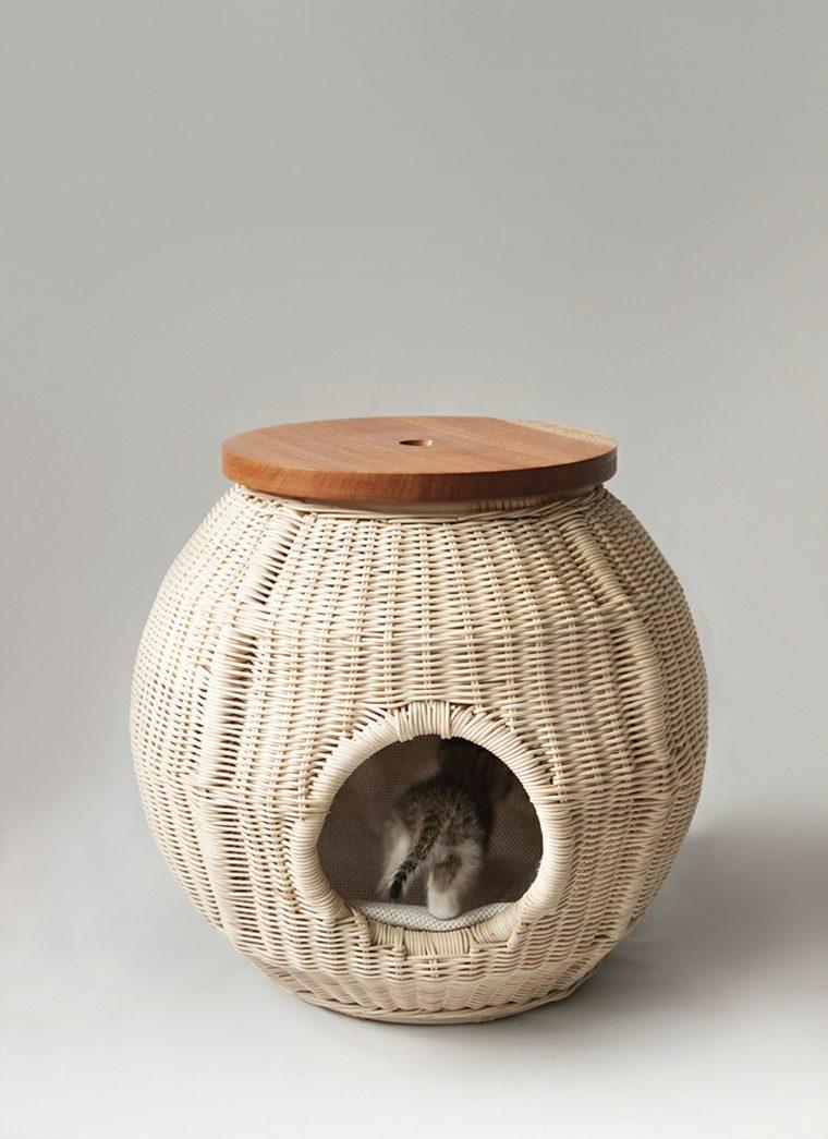camas para gatos cesta rural