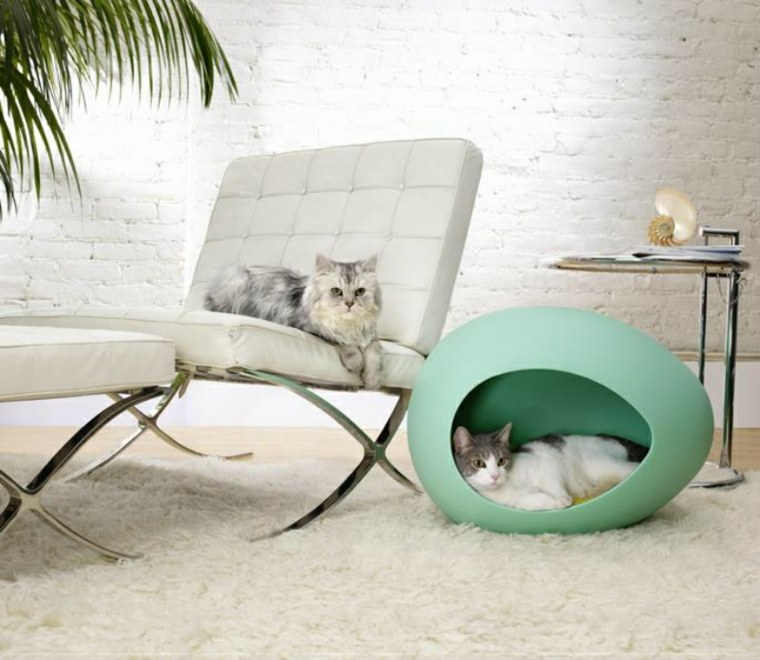 Camas para gatos un estilo felino for Niche pour chat interieur