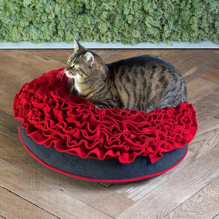 camas para gatos motivo floral