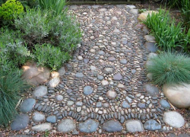 camino jardín estupend diseño mosaicos
