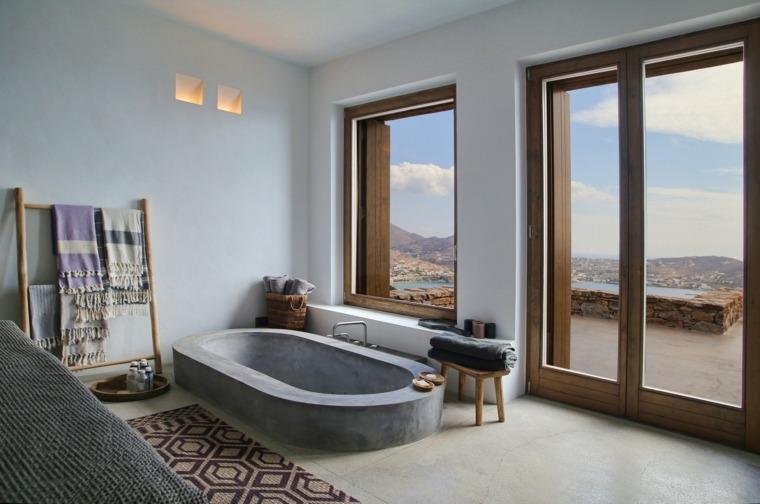 casa de verano baño griego
