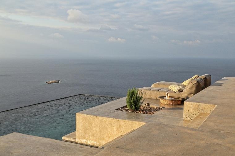 casas con piscina playa syros