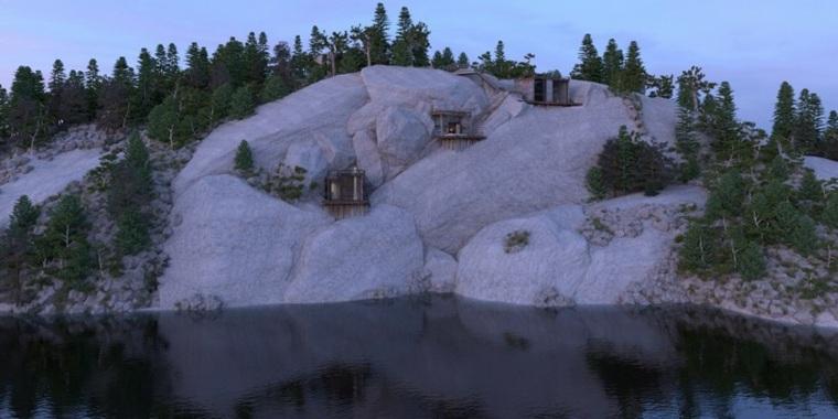 casas especiales rocas muros rios