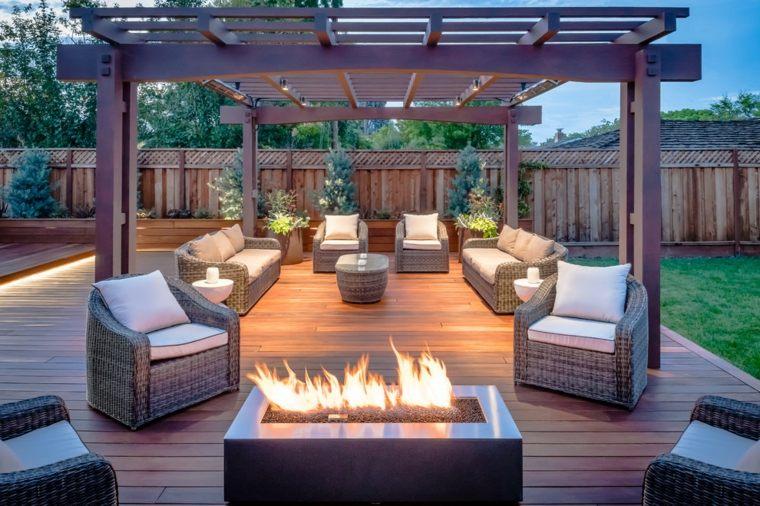 chimeneas de jardín aire libre