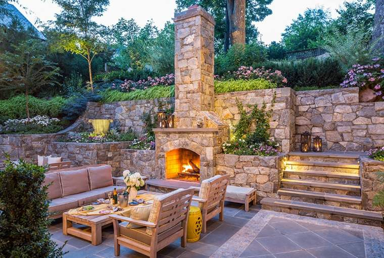 chimeneas para jardín conducto humo