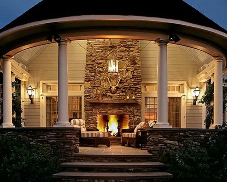 chimeneas para terrazas veranda
