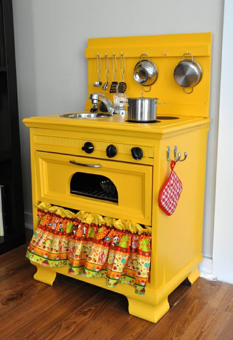 cocina colorida color amarillo juego ninos ideas