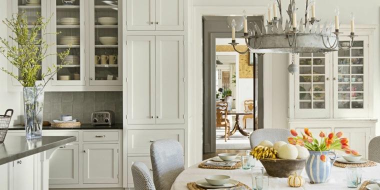 cocina diseno opciones modernas gabinetes blancos madera ideas