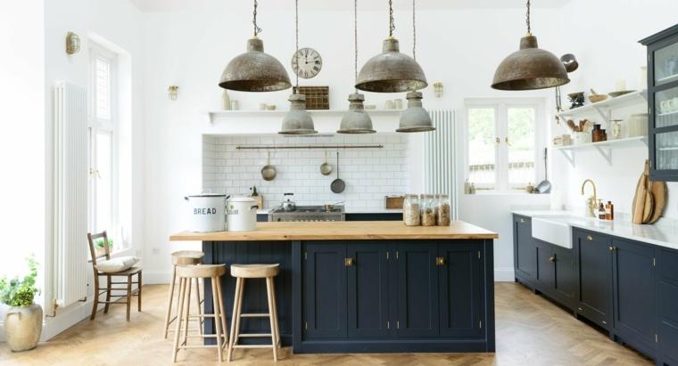 cocina familiar diseno opciones modernas encimeras madera ideas