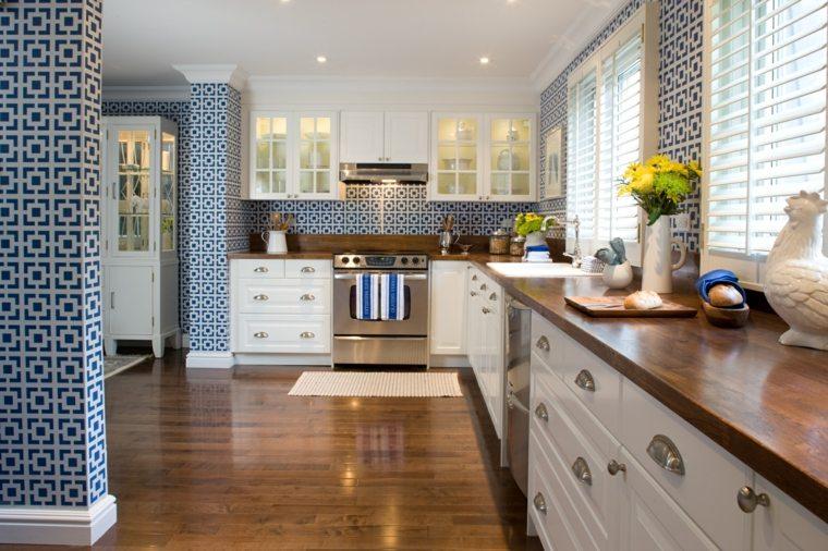 cocina diseno encimeras madera opciones moderna pared ideas