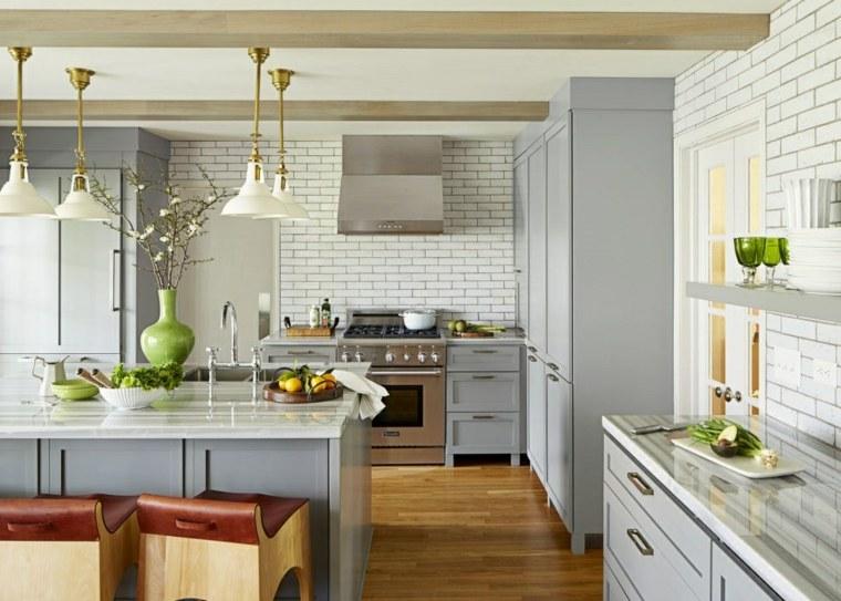 cocina diseno opciones modernas muebles color gris claro ideas