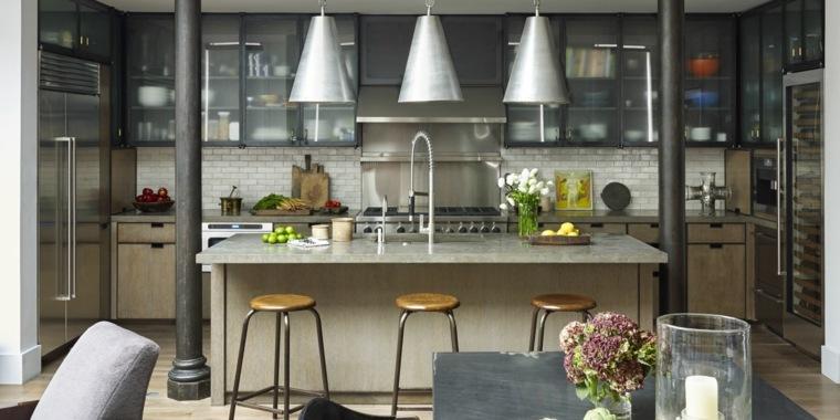 cocina familiar diseno opciones modernas ideas toques diseno industrial