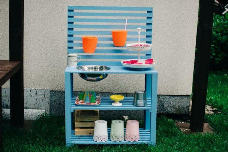 cocina paletas color azul jardin juegos ninos ideas