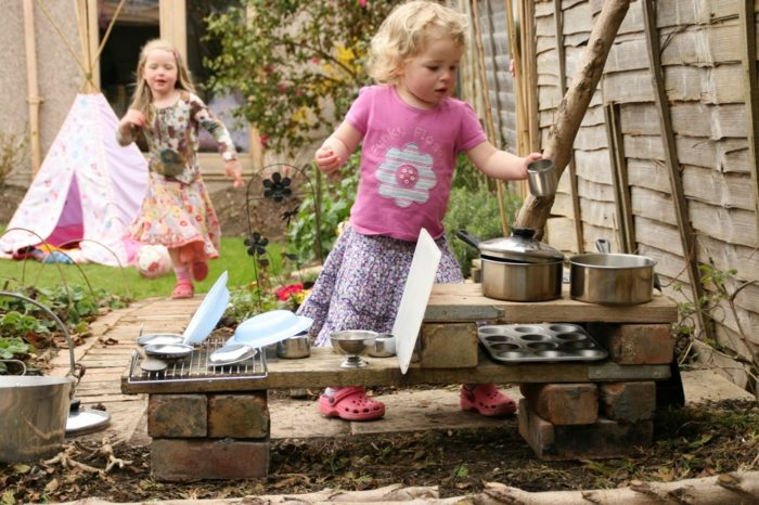 cocinas juguete ninos ladrillos laminas madera ideas