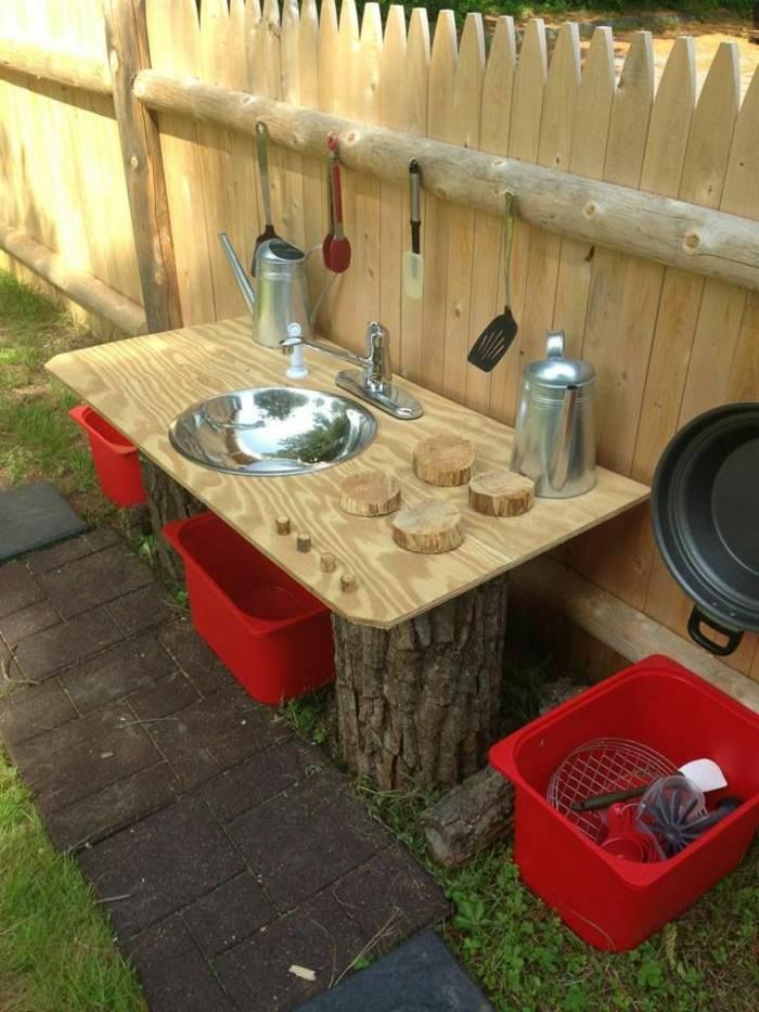 cocinas juguete ninos troncos madera opciones interesantes ideas