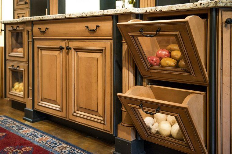cocinas innovadoras mueble compartimentos