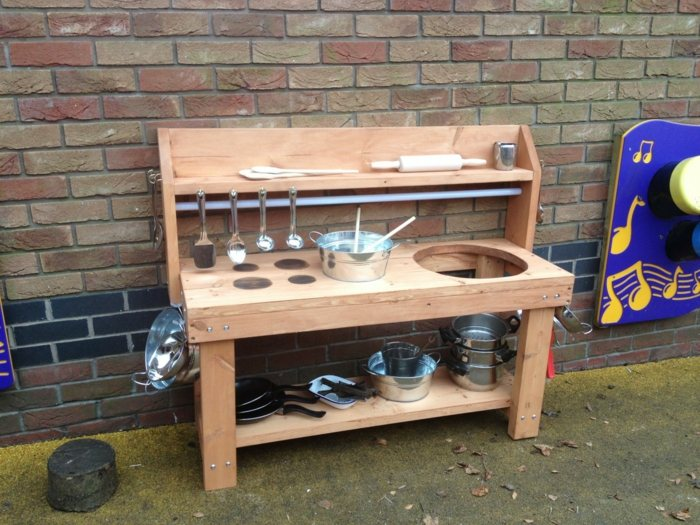 cocinas juguete madera ninos jardin juegos ideas