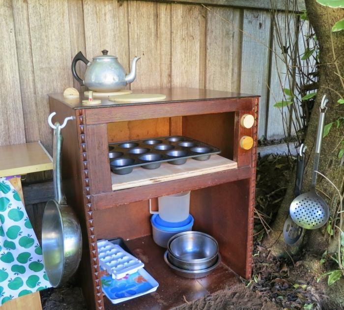 cocinas juguete ninos armario viejo convertido cocina ideas