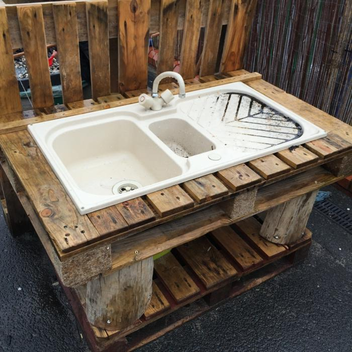 cocinas juguete ninos lavabo palets madera ideas