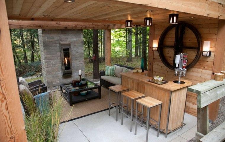 cocinas originales chimenea madera