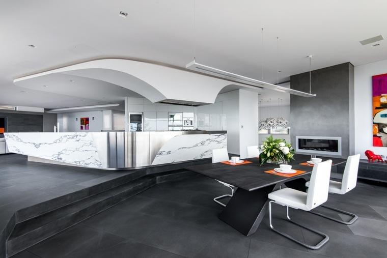 comedor estilo futurista Hillam Architects