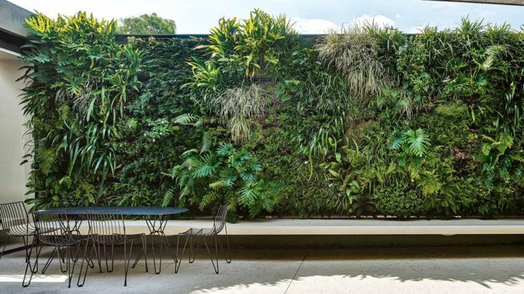 Paredes y vallas con jardines verticales for Jardines verticales para terrazas