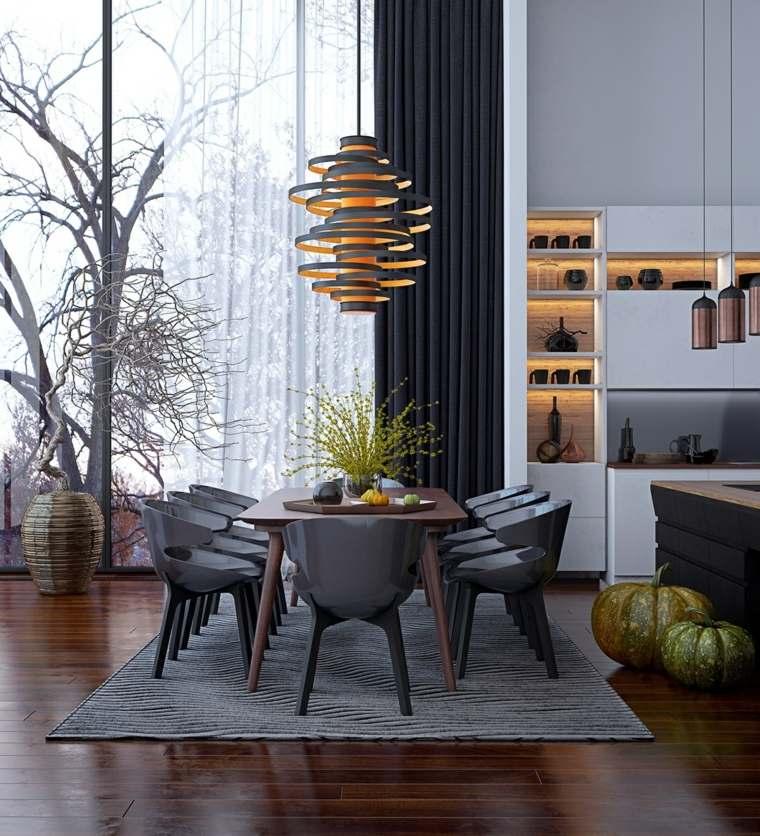 Muebles comedor con dise o elegante y lujoso - Lamparas para comedores modernos ...