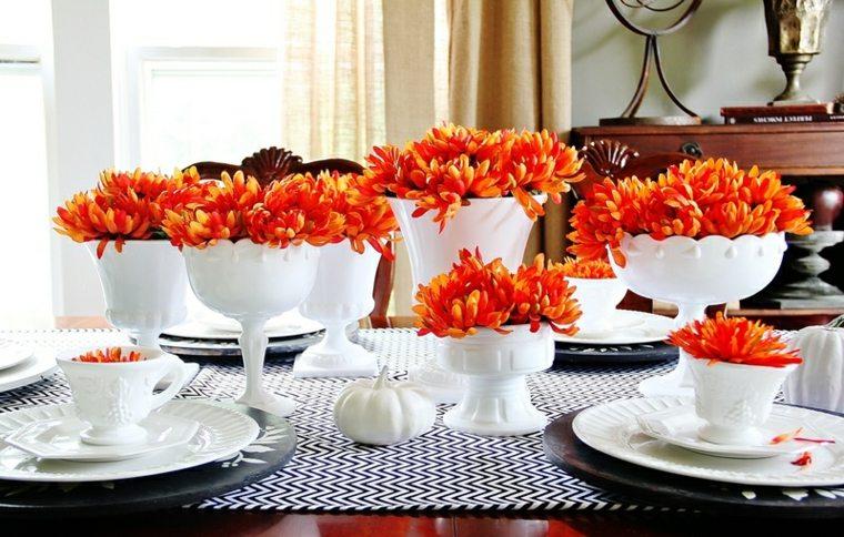 como decorar mesa el otoño