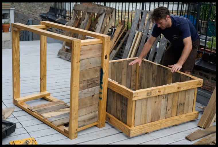 Palets reciclados y utilizados en el jard n - Reciclar palets para jardin ...