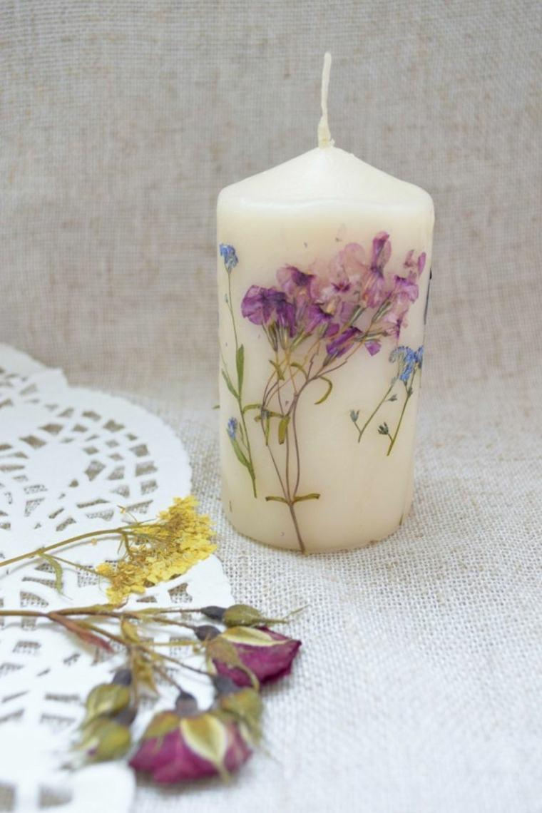 Flores secas ideas asombrosas para decorar velas - Como decorar con velas ...