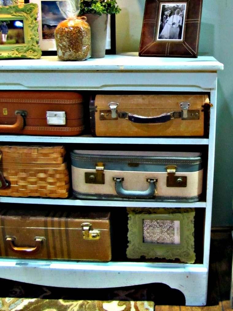 comoda estilo vintage maletas viejas