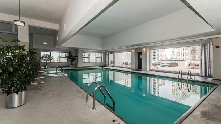 construccion de piscinas dentro casa disenos cuadrada ideas