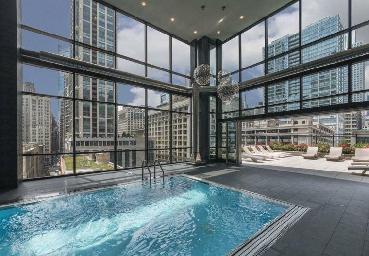 construccion de piscinas dentro casa disenos espacios luminosos ideas
