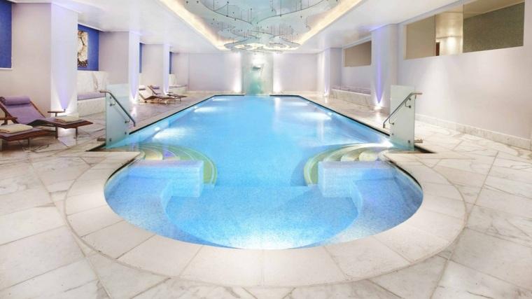 construccion de piscinas dentro casa disenos lugar sentarse ideas