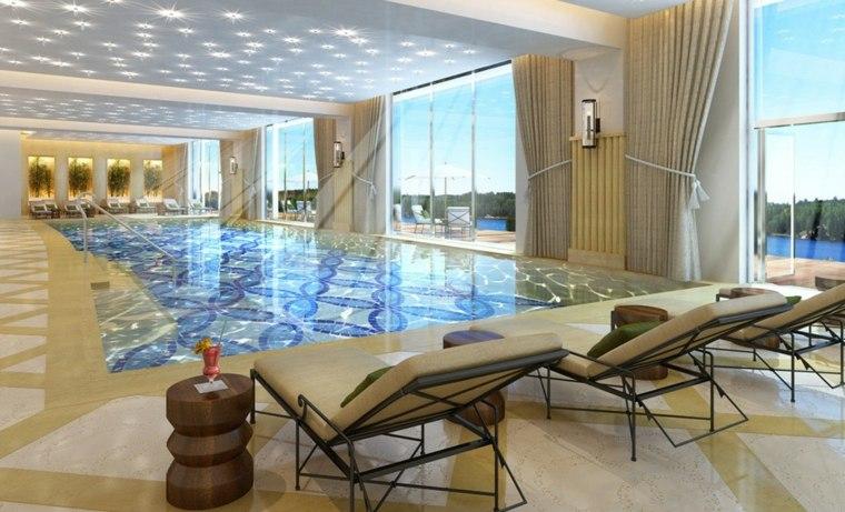 construccion de piscinas dentro casa disenos residencia lujo ideas