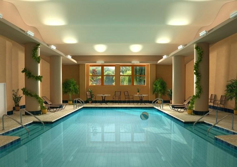 construccion piscinas dentro casa disenos rejante ideas