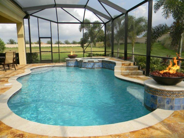 construccion piscinas dentro casa disenos residencia lujo ideas